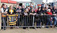 Photo: Richard Lane/Richard Lane Photography. Gloucester Rugby v Wasps. Gallagher Premiership. 23/03/2019. Wasps supporters watch the team come in.