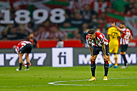 17th April 2021; Olmpico de La Cartuja stadium, Seville, Spain; Copa del Rey Football final, Athletic Bilbao versus FC Barcelona;  Unai Nunez of Athletic Club disappointed to see another Barca goal go in