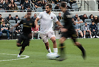 LOS ANGELES, CA - MARCH 01: Rodolfo Pizarro #10 of Inter Miami CF moves with the ball during a game between Inter Miami CF and Los Angeles FC at Banc of California Stadium on March 01, 2020 in Los Angeles, California.