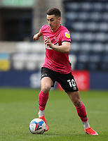 20th April 2021; Deepdale, Preston, Lancashire, England; English Football League Championship Football, Preston North End versus Derby County; Tom Lawrence of Derby County runs with the ball at his feet