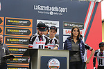 Team Sunweb at sign on before the start of the 99th edition of Milan-Turin 2018, running 200km from Magenta Milan to Superga Basilica Turin, Italy. 10th October 2018.<br /> Picture: Eoin Clarke | Cyclefile<br /> <br /> <br /> All photos usage must carry mandatory copyright credit (© Cyclefile | Eoin Clarke)