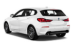 Car pictures of rear three quarter view of 2020 BMW 1-Series Sport 5 Door Hatchback Angular Rear