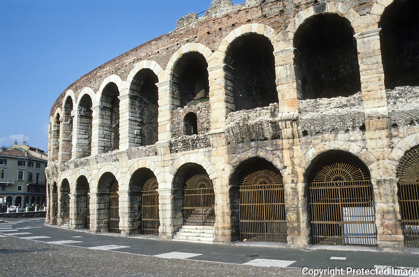 Italy: Verona--Arena, Walls.
