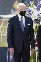 United States President Joe Biden attends a wreath laying ceremony at National 9/11 Memorial at the Pentagon in Washington on September 11, 2021. <br /> CAP/MPI/RS<br /> ©RS/MPI/Capital Pictures