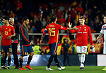 Norway's Martin Odegaard and Spain's Sergio Ramos during the Qualifiers - Group F to Euro 2020 football match between Spain and Norway on 23th March, 2019 in Valencia, Spain. (ALTERPHOTOS/Manu R.B.)