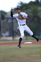 Christian Muniz (69) of Miami Christian High School in Homestead, Florida during the Under Armour Baseball Factory National Showcase, Florida, presented by Baseball Factory on June 13, 2018 the Joe DiMaggio Sports Complex in Clearwater, Florida.  (Nathan Ray/Four Seam Images)