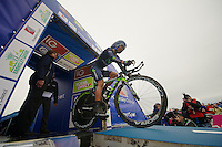 Nairo Quintana (COL) off the podium<br /> <br /> Tour of Britain<br /> stage 3: ITT Knowsley Safari Park (16.1km)