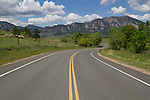 Rural, mountain road in Boulder, Colorado