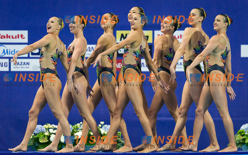 USA - United States of America<br /> ALVAREZ Anita BARTON Claire<br /> KILLMAN Mary KOROLEVA Mariya<br /> MALCOLMSON Isabel ORTELLADO Sandra<br /> TJOA Karensa WILLIAMS Alison<br /> Team Free Final<br /> Day8 10/07/2015<br /> XVI FINA World Championships Aquatics<br /> Synchro<br /> Kazan Tatarstan RUS July 24 - Aug. 9 2015 <br /> Photo Pasquale Mesiano/Deepbluemedia/Insidefoto