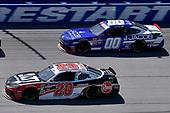 #20: Christopher Bell, Joe Gibbs Racing, Toyota Supra Rheem-Johns Mansville and #00: Cole Custer, Stewart-Haas Racing, Ford Mustang Jacob Companies