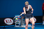 Timea Bacsinszky (SUI) loses to Garbine Murguruza (ESP) 6-3, 6-4, 6-0 at the Australian Open being played at Melbourne Park in Melbourne, Australia on January 24, 2015