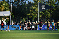 LAKE BUENA VISTA, FL - JULY 18: Portland Timbers player exit the field during a game between Houston Dynamo and Portland Timbers at ESPN Wide World of Sports on July 18, 2020 in Lake Buena Vista, Florida.