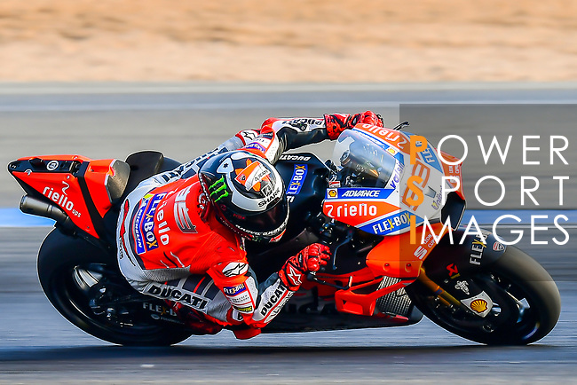 Ducati Team's rider Jorge Lorenzo of Spain rides during the MotoGP Official Test at Chang International Circuit on 18 February 2018, in Buriram, Thailand. Photo by Kaikungwon Duanjumroon / Power Sport Images