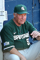 Michigan State Spartans Jake Boss Sr #52 during a game vs the Akron Zips at Chain of Lakes Park in Winter Haven, Florida;  March 12, 2011.  Michigan State defeated Akron 5-1.  Photo By Mike Janes/Four Seam Images