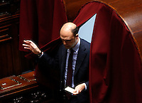 Il Ministro dell'Interno Angelino Alfano vota durante la seduta comune di deputati e senatori per l'elezione del nuovo Presidente della Repubblica, alla Camera dei Deputati, Roma, 30 gennaio 2015.<br /> Italian Interior Minister Angelino Alfano votes during a joint plenary session of senators and deputies to vote for the election of the new President, at the Lower Chamber, Rome, 30 January 2015.<br /> UPDATE IMAGES PRESS/Riccardo De Luca