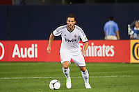 Gonzalo Higuain (20) of Real Madrid. Real Madrid defeated A. C. Milan 5-1 during a 2012 Herbalife World Football Challenge match at Yankee Stadium in New York, NY, on August 8, 2012.