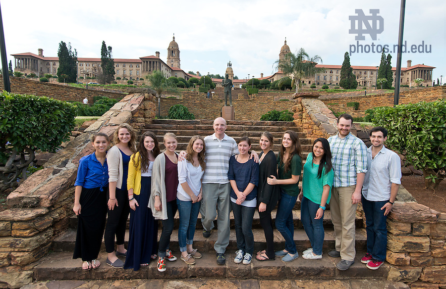 Mar. 14, 2013; Design professor Robert Sedlack and  design students in Pretoria, South Africa. The students were conducting in-person research on design projects aimed at addressing several issues affecting South Africa and Johannesburg.<br /> <br /> Photo by Matt Cashore/University of Notre Dame