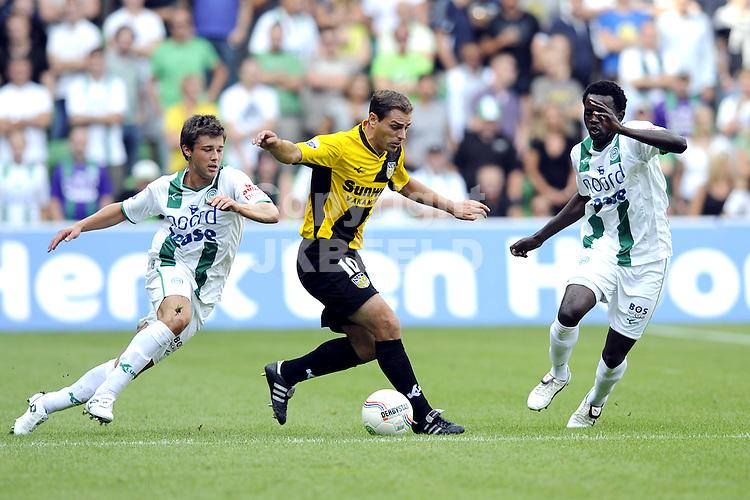 voetbal fc groningen - nac  seizoen 2009-2010 16-08-2009 lurling tussen sepop de rover en ajilore.