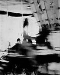 Birmingham 1966 ish blurred roundabout.