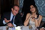 PAOLO BERLUSCONI CON PATRIZIA MARROCCO<br /> ENA DI GALA PER APERTURA SEDE A ROMA DELLA BANCA BARCLAYS<br /> PALAZZO FERRAJOLI ROMA 2010