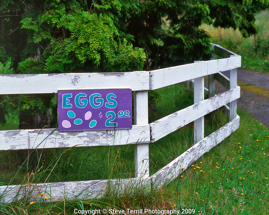 Egg sign in Corbett Oregon