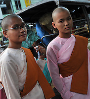 Nuns in the Burmese capitol, Rangoon, Dec 2008.