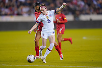 HOUSTON, TX - JANUARY 31: Rose Lavelle #16 of the United States moves with the ball during a game between Panama and USWNT at BBVA Stadium on January 31, 2020 in Houston, Texas.