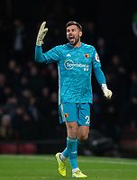 Ben Foster of Watford during the Premier League match between Watford and Manchester United at Vicarage Road, Watford, England on 22 December 2019. Photo by Andy Rowland.