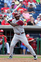 Florida State Seminoles Taiwan Easterling #1 during a scrimmage vs the Philadelphia Phillies  at Bright House Field in Clearwater, Florida;  February 24, 2011.  Philadelphia defeated Florida State 8-0.  Photo By Mike Janes/Four Seam Images