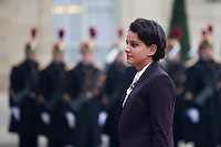French Education Minister Najat Vallaud-Belkacem arrives at the Elysee Palace in Paris, France, December 20, 2016 # FRANCOIS HOLLANDE RECOIT MACKY SALL, LE PRESIDENT DU SENEGAL, A L'ELYSEE