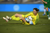 PASADENA, CALIFORNIA - August 03: Marie Hourihan #1 during their international friendly and the USWNT Victory Tour match between Ireland and the United States at the Rose Bowl on August 03, 2019 in Pasadena, CA.