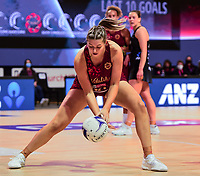 24th September 2021: Christchurch, New Zealand;  Eleanor Cardwell of England during the third Cadbury Netball Series/Taini Jamison Trophy, New Zealand Silver Ferns versus England Roses, Christchurch Arena, Christchurch, New Zealand
