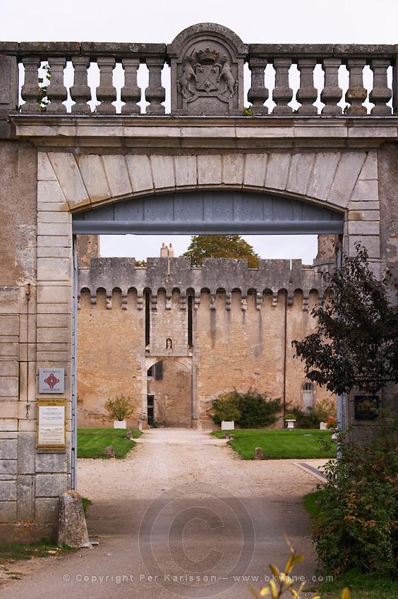 entrance chateau de rully burgundy france