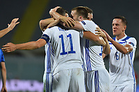 Edin Dzeko of Bosnia celebrates after scoring the goal of 0-1 during the Uefa Nation League Group Stage A1 football match between Italy and Bosnia at Artemio Franchi Stadium in Firenze (Italy), September, 4, 2020. Photo Massimo Insabato / Insidefoto