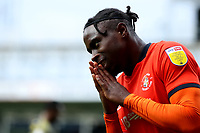 17th October 2020; Kenilworth Road, Luton, Bedfordshire, England; English Football League Championship Football, Luton Town versus Stoke City; Pelly Ruddock of Luton Town reacts as he misses a chance on goal