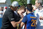 GER - Mannheim, Germany, May 27: During the men semi-final match between Uhlenhorst Muehlheim and Mannheimer HC at the Final4 tournament May 27, 2017 at Am Neckarkanal in Mannheim, Germany. (Photo by Dirk Markgraf / www.265-images.com) *** Local caption *** (c) Lukas Stumpf #4 of Mannheimer HC