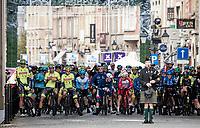 race start at the Menin Gate (War Memorial)<br /> <br /> 82nd Gent-Wevelgem in Flanders Fields 2020 (1.UWT)<br /> 1 day race from Ieper to Wevelgem (232km)<br /> <br /> ©kramon