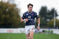 Jason Harries of London Scottish during the Greene King IPA Championship match between London Scottish Football Club and Jersey at Richmond Athletic Ground, Richmond, United Kingdom on 7 November 2015. Photo by Andy Rowland.