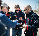 Formula One Triple World Champion, Infiniti Red Bull Racing driver Sebastian Vettel becomes first driver to sample the new Grand Prix venue at Sochi Olympic Park on 22 April 2013 in Sochi, Russia. Vettel, recently announced as Infinit's Director of Performance, was joined by former Formula One driver David Coulthard in driving part of the track in an Infiniti FX Vettel edition. Photo by Victor Fraile / The Power of Sport Images