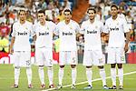 Real Madrid's Fabio Coentrao, Jose Manuel Callejon, Nuri Sahin, Hamit Altintop and Raphael Varane during Santiago Bernabeu Trophy.August 24,2011. (ALTERPHOTOS/Acero)