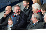 Raith Rovers v St Johnstone....08.03.14    Scottish Cup Quarter Final<br /> Ally McCoist jokes with crime writer and Raith fan Val McDermid<br /> Picture by Graeme Hart.<br /> Copyright Perthshire Picture Agency<br /> Tel: 01738 623350  Mobile: 07990 594431