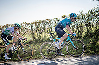 Alex Aranburu (ESP/Astana - Premier Tech) up the Côte de La Redoute<br /> <br /> 107th Liège-Bastogne-Liège 2021 (1.UWT)<br /> 1 day race from Liège to Liège (259km)<br /> <br /> ©kramon