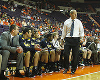Nov 30, 2010; Clemson, SC, USA; Michigan Wolverines head coach Brad Brownwell walks up and down his bench in the game against the Clemson Tigers at Littlejohn Coliseum. Mandatory Credit: Daniel Shirey/WM Photo -US PRESSWIRE