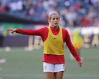 Seattle, WA - Thursday July 27, 2017: Abby Dahlkemper during a 2017 Tournament of Nations match between the women's national teams of the United States (USA) and Australia (AUS) at CenturyLink Field.