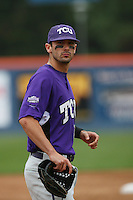 February 22 2009: Matt Carpenter of the TCU Horned Frogs during game against the CSUF Titans at Goodwin Field in Fullerton,CA.  Photo by Larry Goren/Four Seam Images