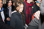 Greta Thunberg  attends Climate change protest during COP25 in Madrid