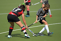 Action from the 2019 Collier Trophy Under-13 Girls' Hockey Tournament match between Central Otago and Counties Manukau at National Hockey Stadium in Wellington, New Zealand on Friday, 9 October 2019. Photo: Dave Lintott / lintottphoto.co.nz