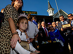 November 3, 2018 : Connections for Monomoy Girl #11, ridden by Florent Geroux, winner of the Longines Breeders' Cup Distaff, in the winner's circle on Breeders Cup World Championships Saturday at Churchill Downs on November 3, 2018 in Louisville, Kentucky. Bill Denver /Eclipse Sportswire/CSM