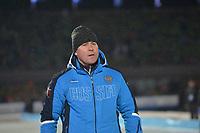 SCHAATSEN: AMSTERDAM: Olympisch Stadion, 09-03-2018, WK Allround, Coolste Baan van Nederland, Pawel Abratkiewicz (coach RUS), ©foto Martin de Jong