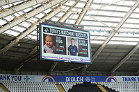 Todays mascots on the big screen during the Sky Bet Championship match between Swansea City and Blackburn Rovers at the Liberty Stadium, Swansea, Wales, UK. Saturday 31 October 2020